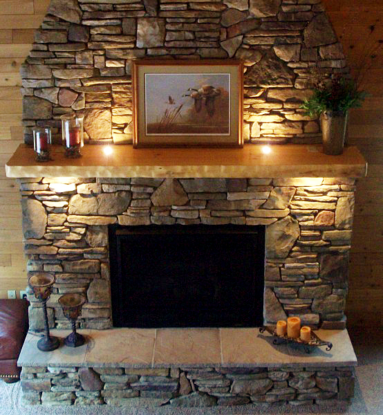 fireplace mantel shelves design ideas